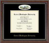 Central Washington University Diploma Frame - Campus Cameo Diploma Frame in Chateau