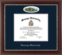 Gonzaga University Diploma Frame - Campus Cameo Diploma Frame in Chateau