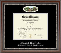 Marshall University Diploma Frame - Campus Cameo Diploma Frame in Chateau