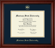 Montana State University Bozeman Diploma Frame - Gold Embossed Diploma Frame in Cambridge