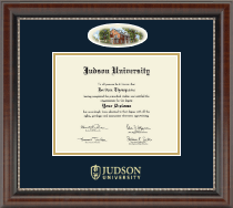 Judson University Diploma Frame - Campus Cameo Diploma Frame in Chateau