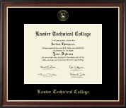 Lanier Technical College Diploma Frame - Gold Embossed Diploma Frame in Studio Gold