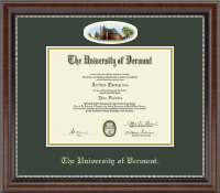 The University of Vermont Diploma Frame - Campus Cameo Diploma Frame in Chateau