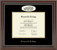 Greenville College Diploma Frame - Campus Cameo Diploma Frame in Chateau
