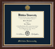 Millikin University Diploma Frame - Gold Engraved Diploma Frame in Hampshire