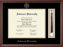 Anderson University in South Carolina Diploma Frame - Tassel Edition Diploma Frame in Newport