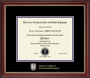 American College of Foot and Ankle Surgeons Certificate Frame - Masterpiece Edition Certificate Frame in Kensington Gold