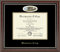 Westminster College in Missouri Diploma Frame - Campus Cameo Diploma Frame in Chateau