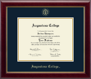 Augustana College South Dakota Diploma Frame - Gold Embossed Diploma Frame in Gallery
