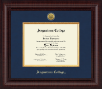 Augustana College South Dakota Diploma Frame - Presidential Gold Engraved Diploma Frame in Premier