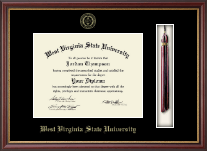 West Virginia State University Diploma Frame - Tassel Edition Diploma Frame in Newport