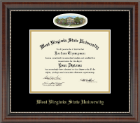 West Virginia State University Diploma Frame - Campus Cameo Diploma Frame in Chateau