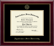 Appalachian State University Diploma Frame - Gold Embossed Diploma Frame in Gallery