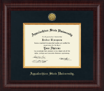 Appalachian State University Diploma Frame - Presidential Gold Engraved Diploma Frame in Premier