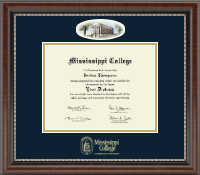 Mississippi College Diploma Frame - Campus Cameo Diploma Frame in Chateau
