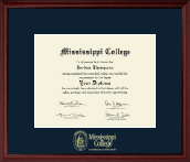 Mississippi College Diploma Frame - Gold Embossed Diploma Frame in Camby