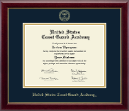 United States Coast Guard Academy Diploma Frame - Gold Embossed Diploma Frame in Gallery