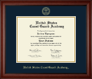 United States Coast Guard Academy Diploma Frame - Gold Embossed Diploma Frame in Cambridge