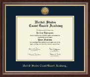 United States Coast Guard Academy Diploma Frame - Gold Engraved Diploma Frame in Hampshire