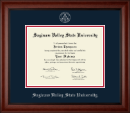 Saginaw Valley State University Diploma Frame - Silver Embossed Diploma Frame in Cambridge
