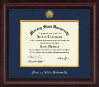 Murray State University Diploma Frame - Presidential Gold Engraved Diploma Frame in Premier
