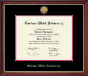 Gardner-Webb University Diploma Frame - Gold Engraved Diploma Frame in Kensington Gold