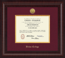 Union College in New York Diploma Frame - Presidential Gold Engraved Diploma Frame in Premier