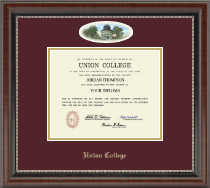 Union College in New York Diploma Frame - Campus Cameo Diploma Frame in Chateau