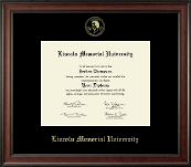 Lincoln Memorial University Diploma Frame - Gold Embossed Diploma Frame in Studio