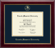 Lincoln Memorial University Diploma Frame - Gold Embossed Diploma Frame in Gallery
