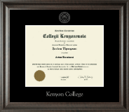 Kenyon College Diploma Frame - Silver Embossed Diploma Frame in Acadia