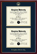 Creighton University Diploma Frame - Double Diploma Frame in Galleria