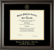 Virginia Tech Diploma Frame - Gold Embossed Diploma Frame in Acadia