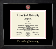 Texas Tech University Diploma Frame - Masterpiece Medallion Diploma Frame in Eclipse