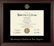 University of California Los Angeles Diploma Frame - Gold Embossed Diploma Frame in Studio