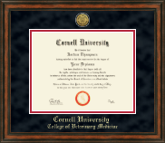 Cornell University Diploma Frame - Gold Engraved Medallion Edition in Ashford