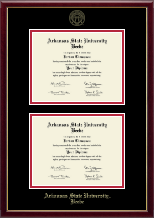 Arkansas State University Beebe Diploma Frame - Double Diploma Frame in Galleria