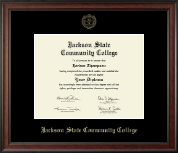 Jackson State Community College Diploma Frame - Gold Embossed Diploma Frame in Studio