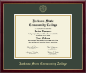 Jackson State Community College Diploma Frame - Gold Embossed Diploma Frame in Galleria