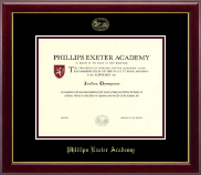 Phillips Exeter Academy Diploma Frame - Gold Embossed Diploma Frame in Gallery