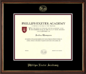 Phillips Exeter Academy Diploma Frame - Gold Embossed Diploma Frame in Williamsburg