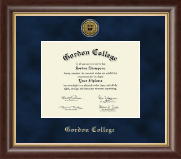 Gordon College in Massachusetts Diploma Frame - Gold Engraved Medallion Diploma Frame in Hampshire
