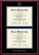 Grace University Diploma Frame - Double Diploma Frame in Galleria