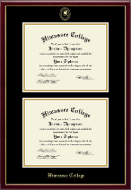 Hiwassee College Diploma Frame - Gold Embossed Double Diploma in Galleria