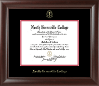 North Greenville University Diploma Frame - Gold Embossed Diploma Frame in Rainier