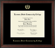Lawson State Community College Diploma Frame - Gold Embossed Diploma Frame in Studio