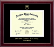 Southern Illinois University Carbondale Diploma Frame - Gold Embossed Diploma Frame in Gallery
