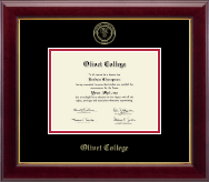 Olivet College Diploma Frame - Gold Embossed Diploma Frame in Gallery
