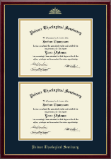 Palmer Theological Seminary Diploma Frame - Double Diploma Frame in Galleria
