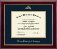 Palmer Theological Seminary Diploma Frame - Gold Embossed Diploma Frame in Gallery